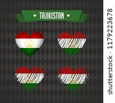 tajikistan with love. design... | Shutterstock .eps vector #1179223678