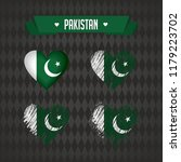 pakistan. collection of four... | Shutterstock .eps vector #1179223702