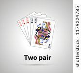two pair poker combination with ... | Shutterstock .eps vector #1179224785
