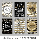 set of christmas greeting cards ... | Shutterstock .eps vector #1179226018