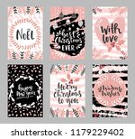 set of christmas greeting cards ... | Shutterstock .eps vector #1179229402
