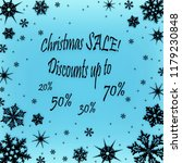 christmas coupon for a discount ... | Shutterstock . vector #1179230848