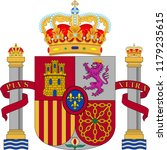 coat of arms of spain... | Shutterstock .eps vector #1179235615