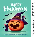 happy halloween. halloween... | Shutterstock .eps vector #1179239728