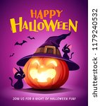 happy halloween. halloween... | Shutterstock .eps vector #1179240532