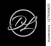 initial letters d l elegant... | Shutterstock .eps vector #1179240625
