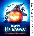 halloween pumpkin. jack o... | Shutterstock .eps vector #1179241372