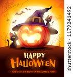 halloween pumpkin. jack o... | Shutterstock .eps vector #1179241492