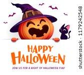 happy halloween  jack o lantern ... | Shutterstock .eps vector #1179242548