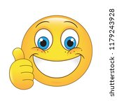 emoji thumbs up face vector... | Shutterstock .eps vector #1179243928