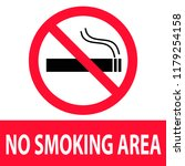 no smoking area icon on white... | Shutterstock .eps vector #1179254158