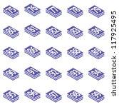 75 99 number stack in isometric ... | Shutterstock .eps vector #117925495