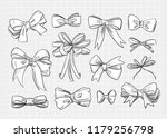 hand drawn various bow ties....   Shutterstock .eps vector #1179256798