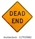 A Yellow Dead End Road Sign On...