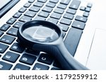 close up of laptop with... | Shutterstock . vector #1179259912