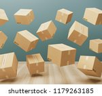 shipping boxes in a room  3d... | Shutterstock . vector #1179263185