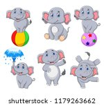 Cartoon Elephants Collection...