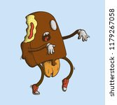 hand drawn dot work vector... | Shutterstock .eps vector #1179267058