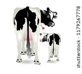 vector illustration. cow and... | Shutterstock .eps vector #1179267778