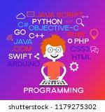 programming web banner. best... | Shutterstock .eps vector #1179275302
