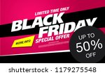black friday sale banner layout ... | Shutterstock .eps vector #1179275548