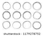 doodle sketched circles. doodle ...   Shutterstock . vector #1179278752