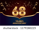 68th anniversary gold numbers.... | Shutterstock .eps vector #1179280225