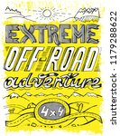 extreme off road adventure.... | Shutterstock .eps vector #1179288622