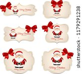 banner with red bow and santa... | Shutterstock . vector #1179291238