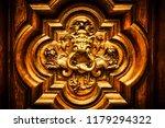 detail of the devil door in... | Shutterstock . vector #1179294322
