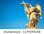 rome  statue of an angel on the ... | Shutterstock . vector #1179295258