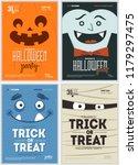halloween party fun posters... | Shutterstock .eps vector #1179297475