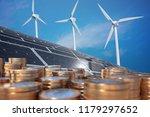 economics of alternative energy.... | Shutterstock . vector #1179297652