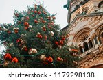 christmas tree near kaiser... | Shutterstock . vector #1179298138