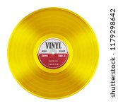 gold gramophone record long... | Shutterstock . vector #1179298642
