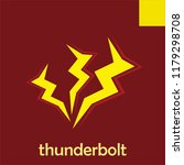 thunderbolt symbol and icon | Shutterstock .eps vector #1179298708