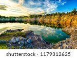 mountain lake sunset reflection ... | Shutterstock . vector #1179312625
