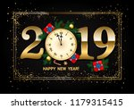 2019 new year background with... | Shutterstock .eps vector #1179315415