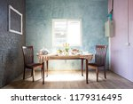 dining table and chairs | Shutterstock . vector #1179316495