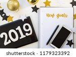 happy new year's layout.... | Shutterstock . vector #1179323392