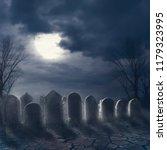 Halloween Scary Night Concept....