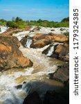 landscape of lee pee waterfall...   Shutterstock . vector #1179324385