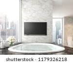 luxury bathroom with city view...   Shutterstock . vector #1179326218