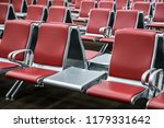 empty red chair prepare for a... | Shutterstock . vector #1179331642
