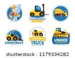 construct machines logo. heavy... | Shutterstock .eps vector #1179334282