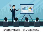 businessmen are presenting a...   Shutterstock .eps vector #1179336052