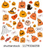 colorful cartoon halloween... | Shutterstock .eps vector #1179336058
