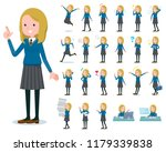 a set of school girl with who... | Shutterstock .eps vector #1179339838