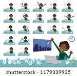 a set of women on desk work... | Shutterstock .eps vector #1179339925