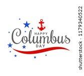 illustration of columbus day... | Shutterstock .eps vector #1179340522